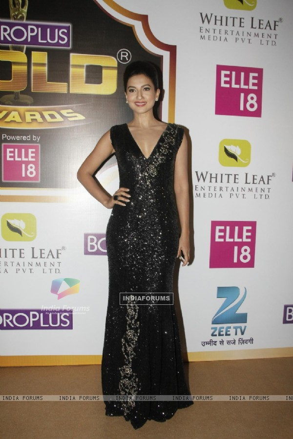 Gauahar Khan at the Boroplus Zee Gold Awards 2014