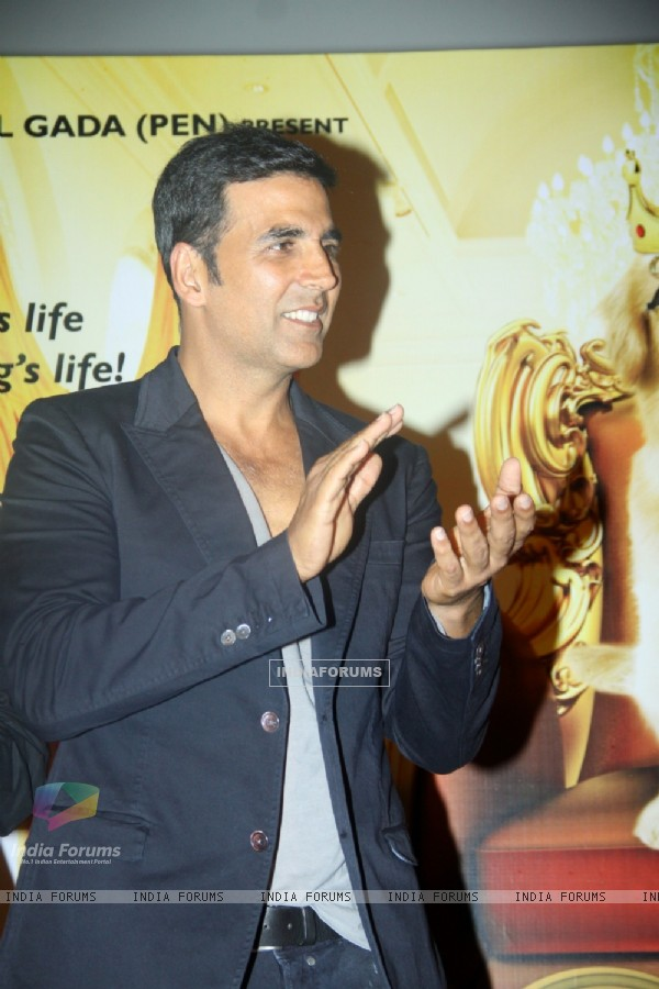 Akshay Kumar at the First Look Launch of It's Entertainment