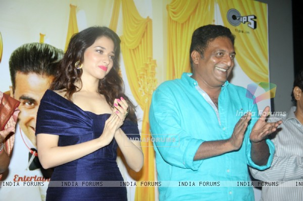 Tamanna and Prakash Raj at the First Look Launch of It's Entertainment