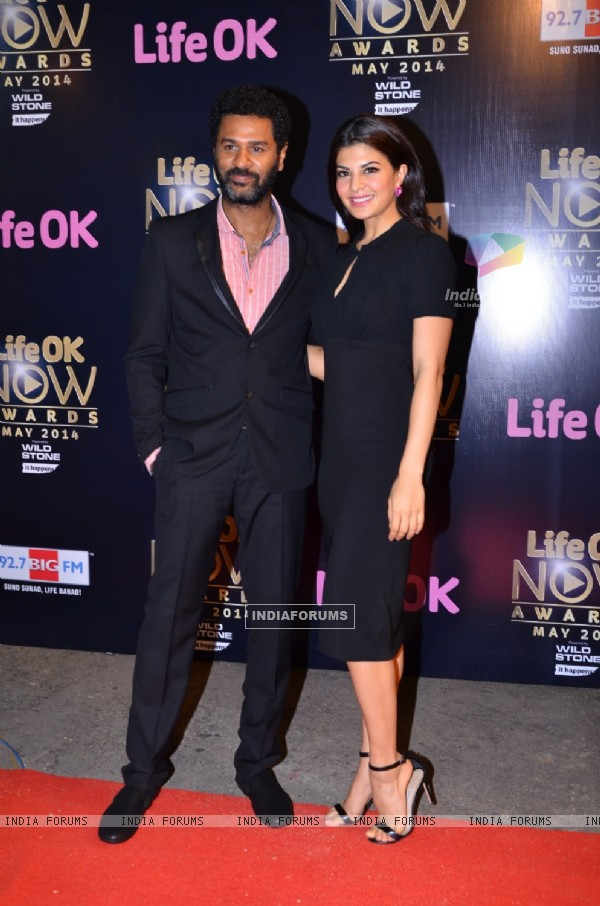 Prabhu Deva and Jacqueline Fernandes at the Life OK Now Awards