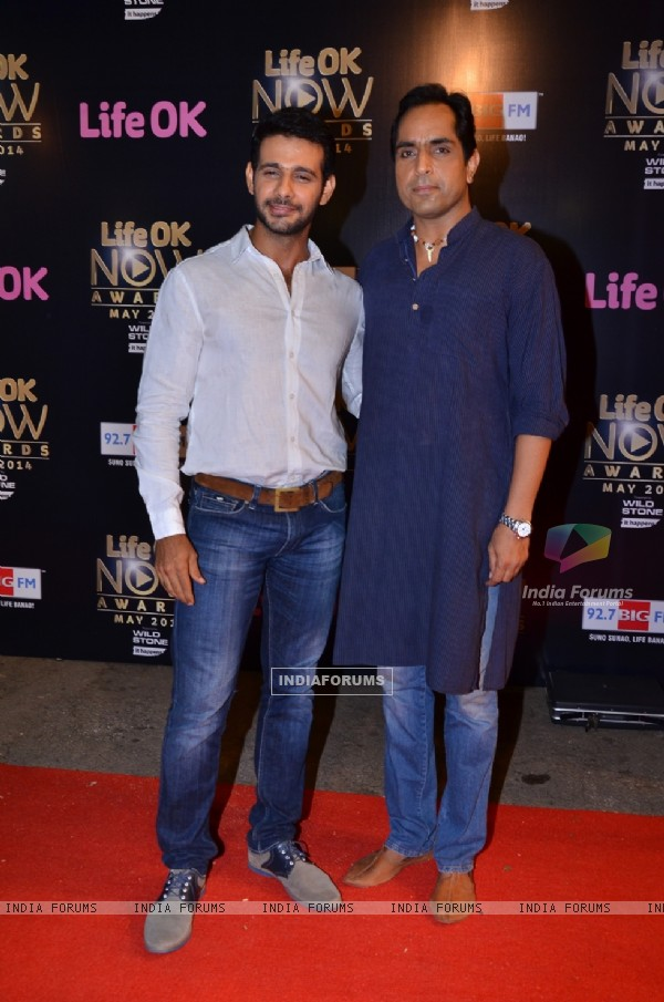 Viraf Patel and Vishwajeet Pradhan at the Life OK Now Awards