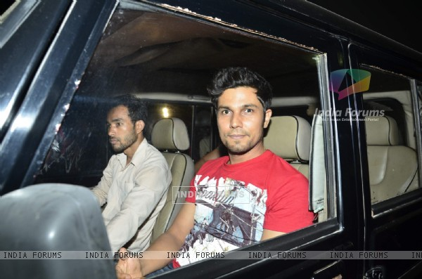 Randeep Hooda was at the Special Screening of Heropanti