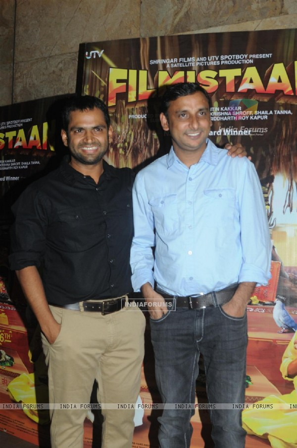 The cast of Filmistaan at the special screening