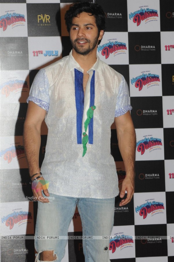 Varun Dhawan at the Trailer Launch of 'Humpty Sharma Ki Dulhania'