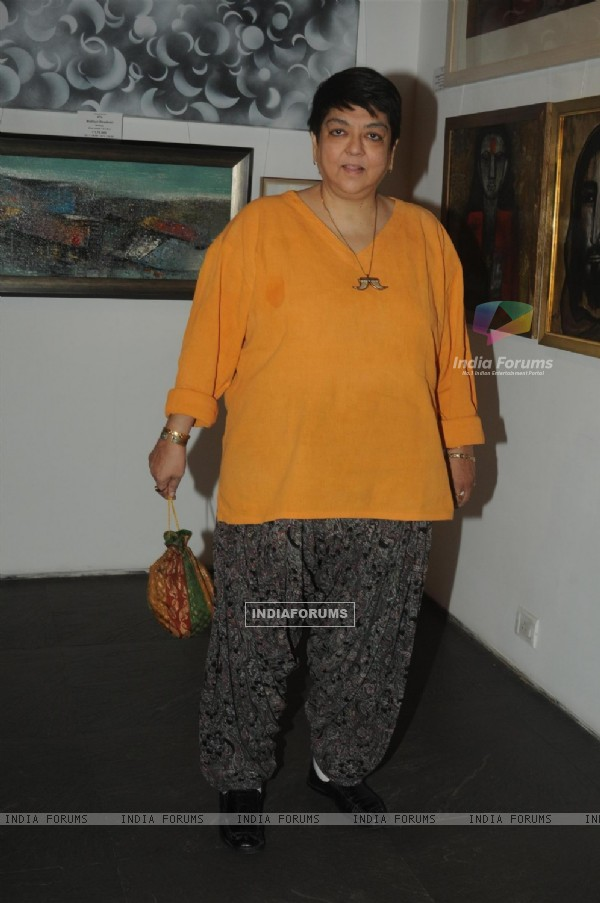 Kalpana Lazmi was seen at the Group Art Exhibition 'Colours of Life'