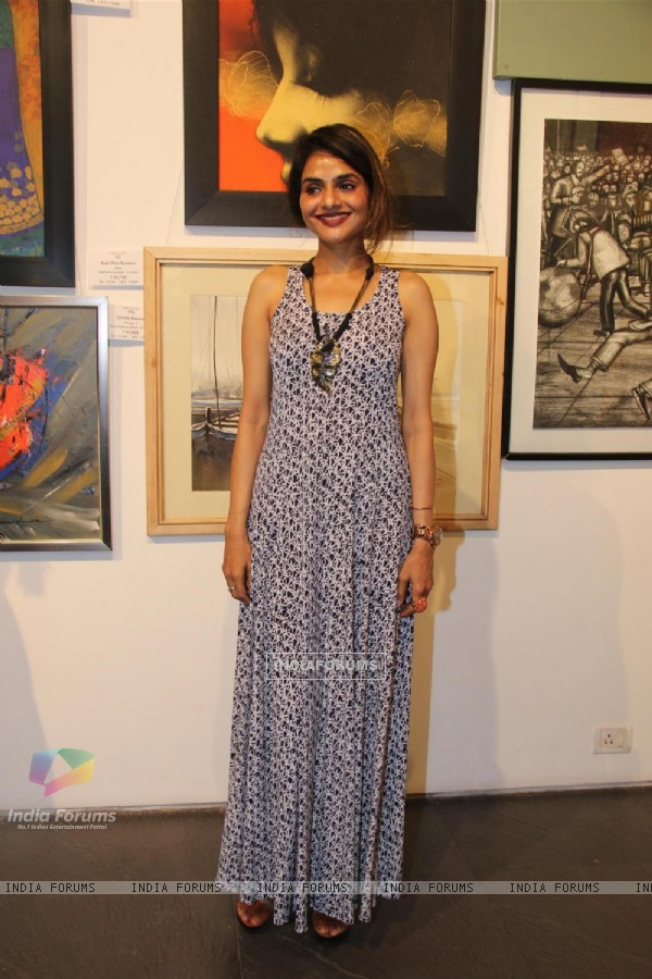 Madhoo at the Group Art Exhibition 'Colours of Life'