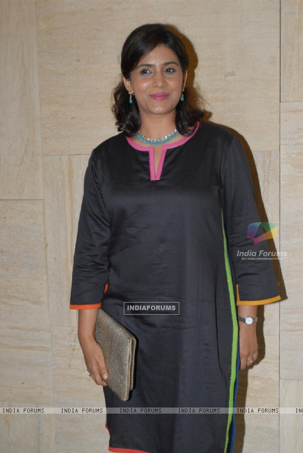 Sonali Kulkarni was at the Music launch of Marathi Film Lai Bhari