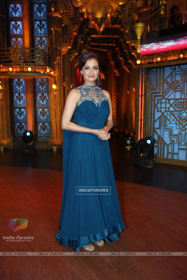 Dia Mirza during the Promotions of Bobby Jasoos on Entertainment Ke Liye Kuch Bhi Karega