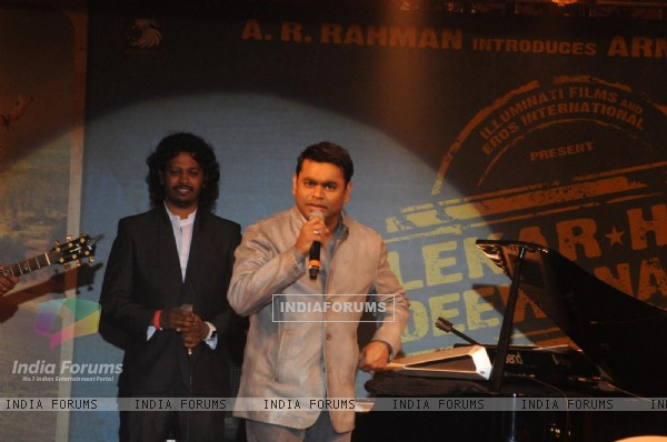 A. R. Rahmaan performs at the Music launch of 'Lekar Hum Deewana Dil'
