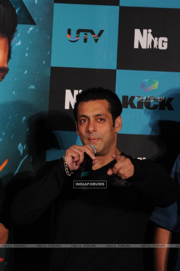 Salman Khan at the Trailer Launch of 'Kick'