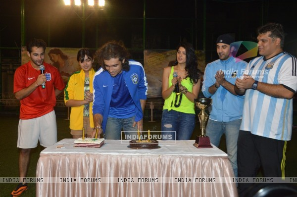 Imtiaz Ali inaugrates the football match