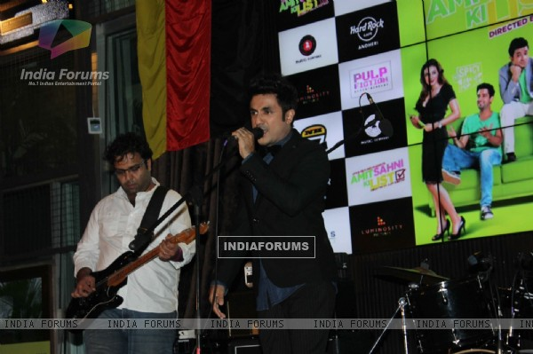 Vir Das performs at the Music Launch of Amit Sahni Ki List