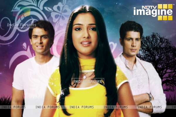 Amrapali, Shoaib and Sumit as Suman, Karan and Kartik in Rehna Hai Teri Palkon ki Chaaon Mein