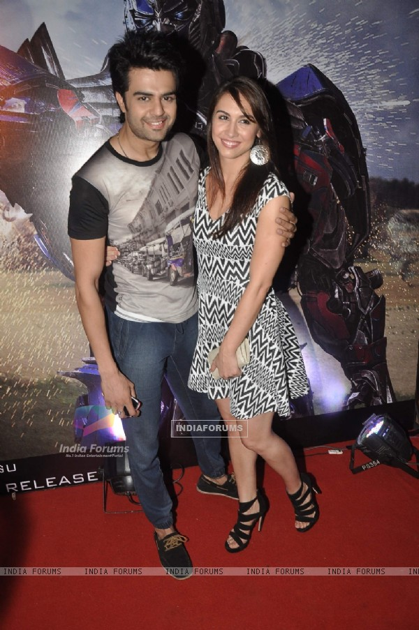 Manish and Lauren at Transformers Age of Extinction Premiere