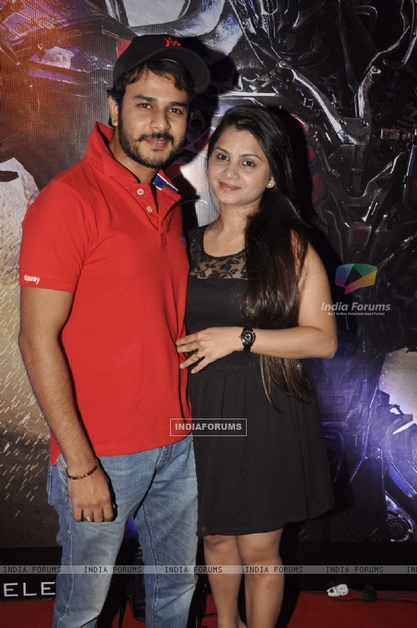 Jay Soni with his wife at Transformers Age of Extinction Premiere