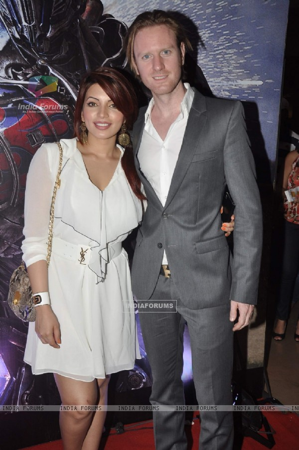Shama Sikander and Alex O Neil was at Transformers Age of Extinction Premiere