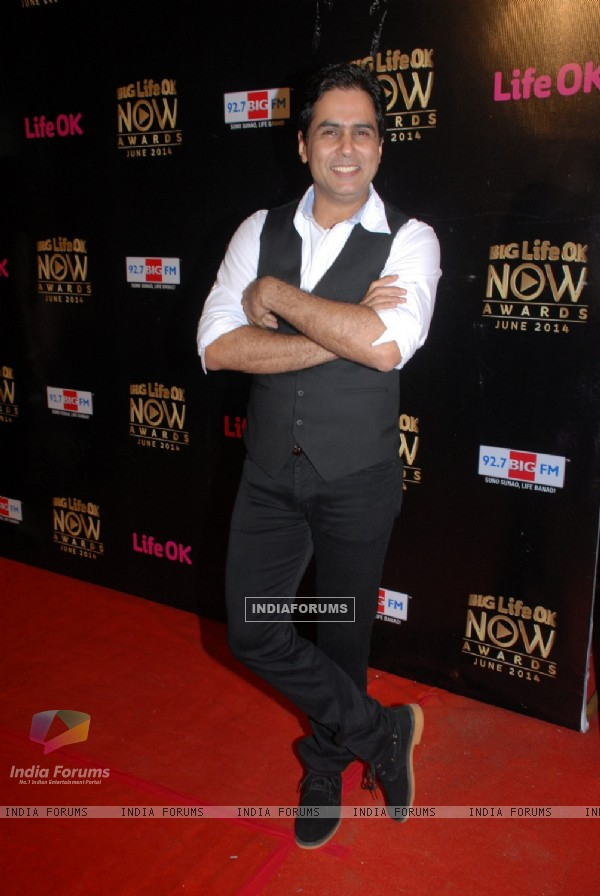 Aman verma at  Life OK Now Awards - June 2014