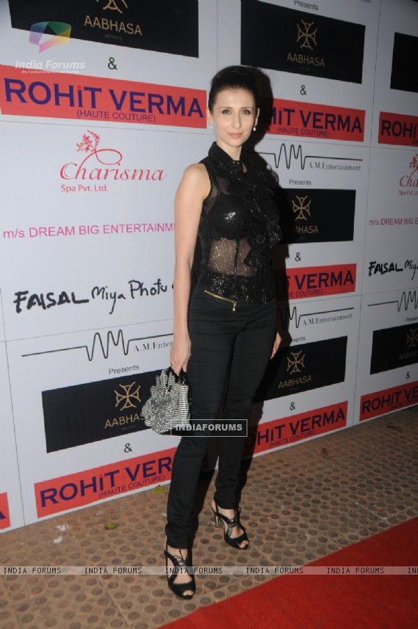 Claudia Ciesla at the launch of Rohhit Verma club wear collection