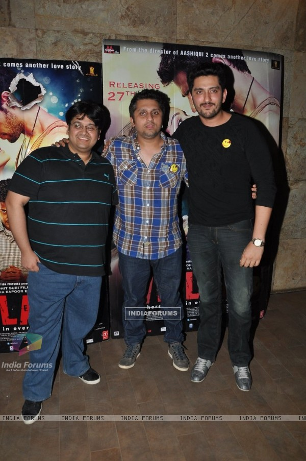 Tushar, Mohit Suri and Shaad Randhawa at Ek Villain Special Screening