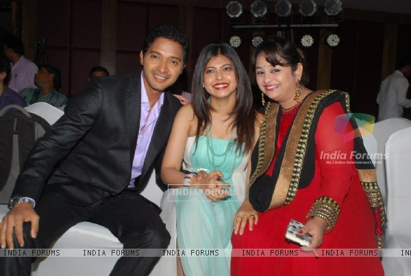 shreyas Talpade with his wife and guest at the Poshter Boyz Launch at Levo