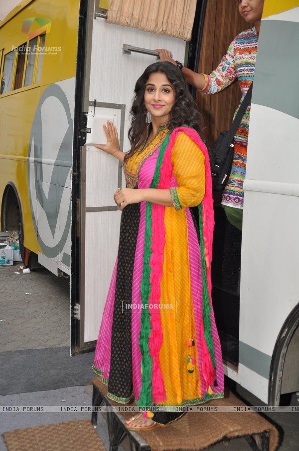 Vidya Balan at the Promotions of Bobby Jasoos