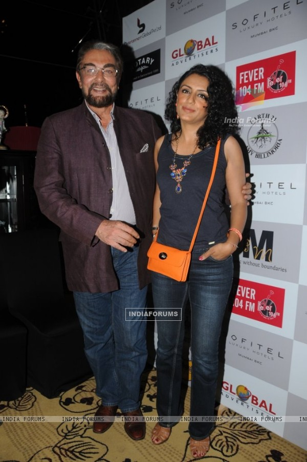 Kabir Bedi wit a friend at the Music Mania Event