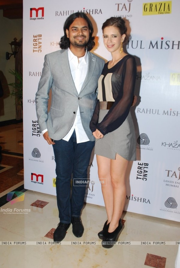 Kalki Koechlin poses with Rahul Mishra