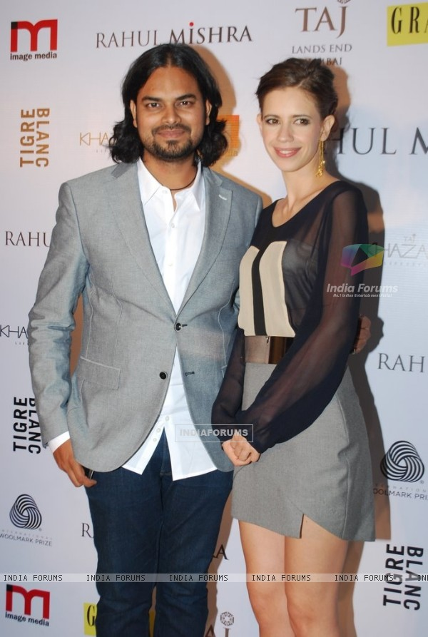 Rahul Mishra poses with Kalki Koechlin