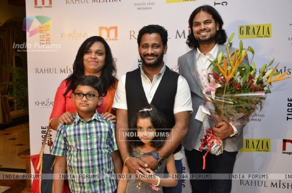 Rahul Mishra with Resul Pookutty and his family