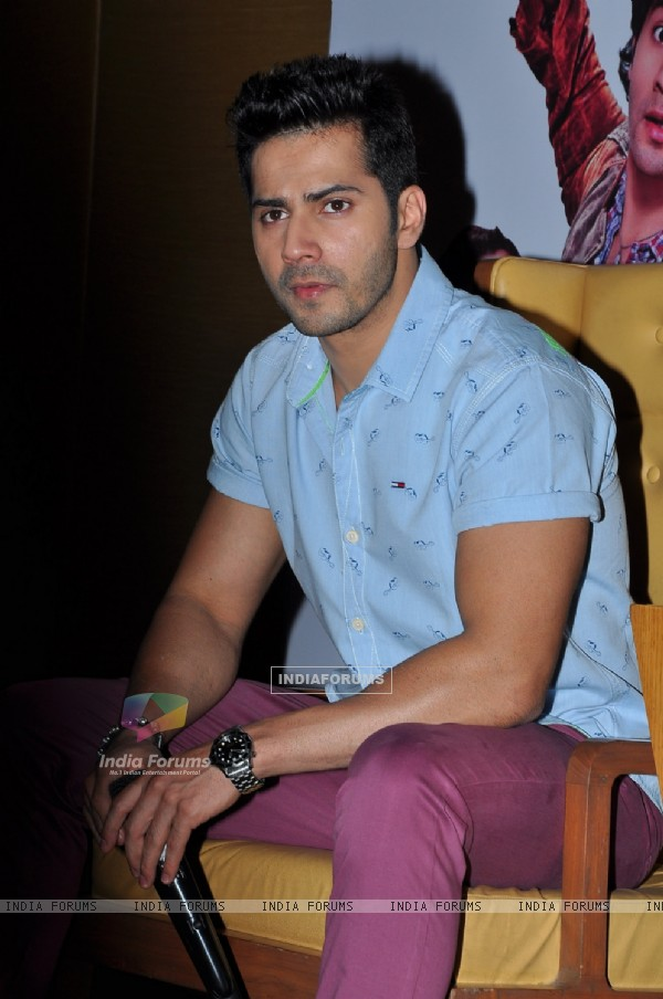 Varun Dhawan captured in a deep thought at the Press Meet