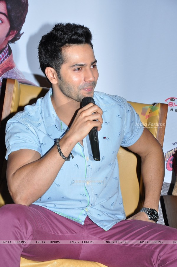 Varun Dhawan addressing the Press