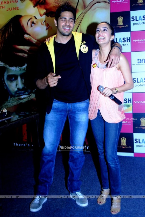 Sidharth Malhotra and Shraddha Kapoor enjoying themselves at the Promotions of Ek Villain