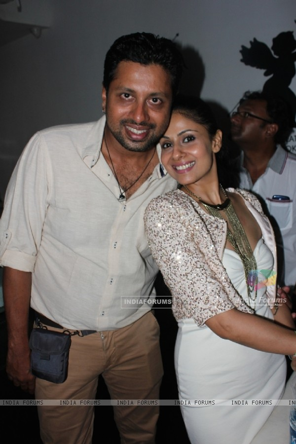 Chhavi Mittal with a friend at the party