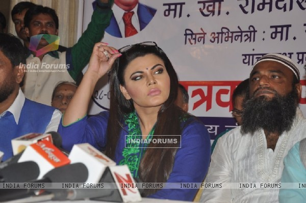 Rakhi Sawant was spotted at the Republican Party of India event