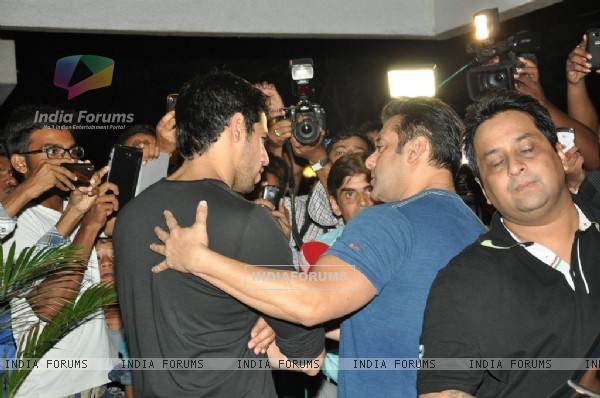 Sidharth Malhotra and Salman Khan at the success party of Ek Villain