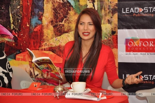 Rochelle Maria Rao expresses her opinion at the book launch
