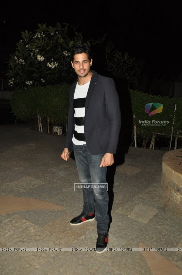 Sidharth Malhotra at the Success Party of Ek Villain