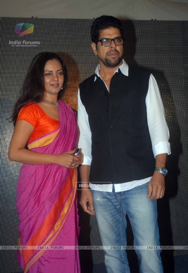 Neha Joshi with Murali Sharma