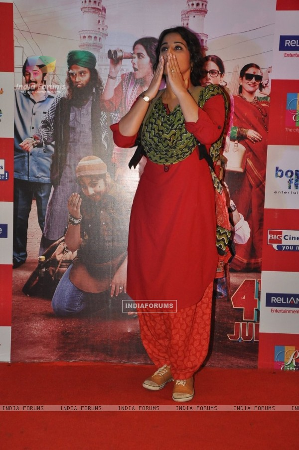 Vidya Balan at the promotions of Bobby Jasoos at R City Mall