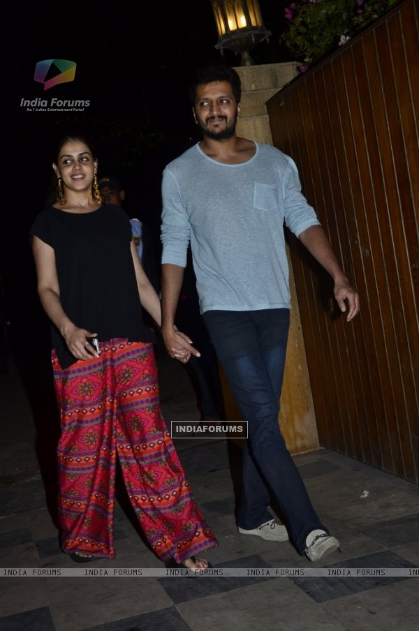 Riteish Deshmukh and Genelia Dsouza at Success Bash of Ek Villain