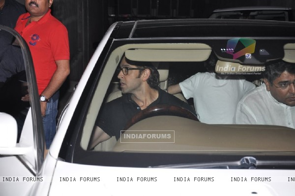 Hrithik Roshan Snapped at a screening at Lightbox