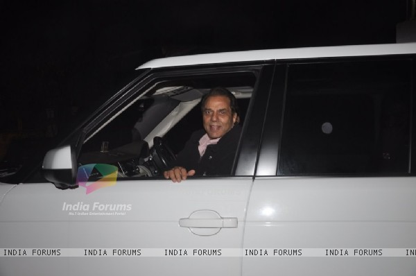 Dharmendra was spotted at the Screening of Lai Bhari