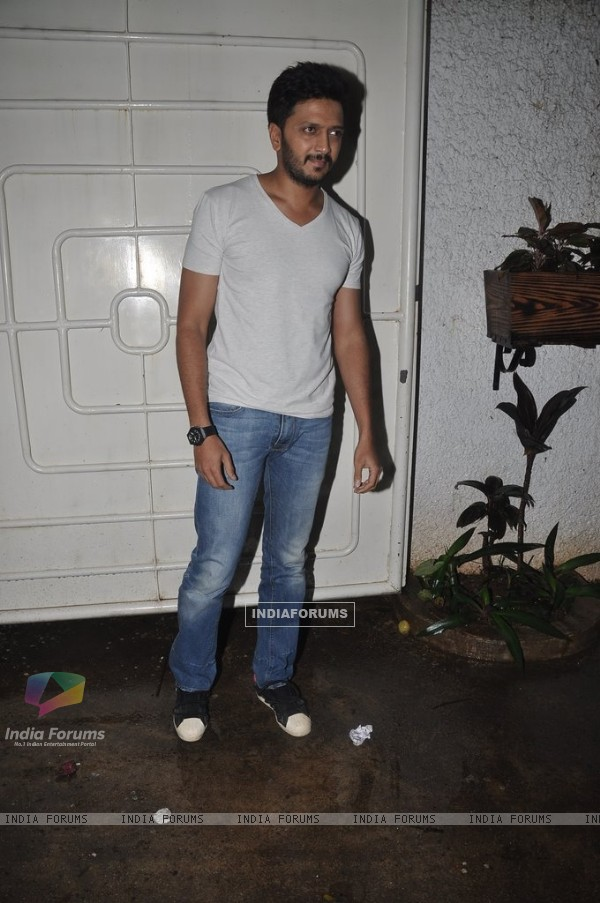 Riteish Deshmukh was spotted at the Screening of Lai Bhari
