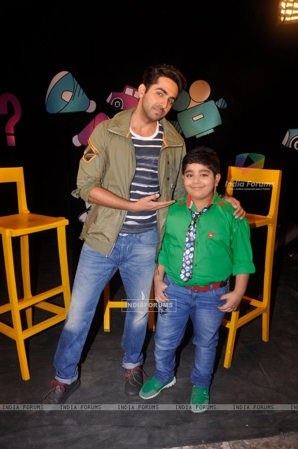 Ayushmann Khurrana with Sadhil Kapoor on Captain Tiao