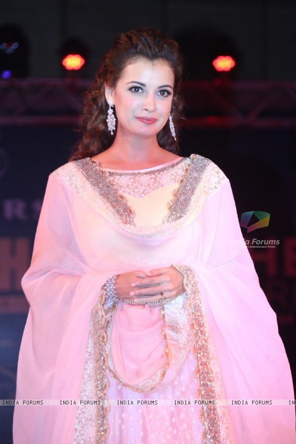 Dia Mirza at the Teach for Change 2014 Fashion Show