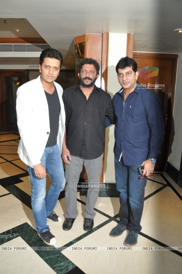 Riteish Deshmukh along with Nishikant Kamat