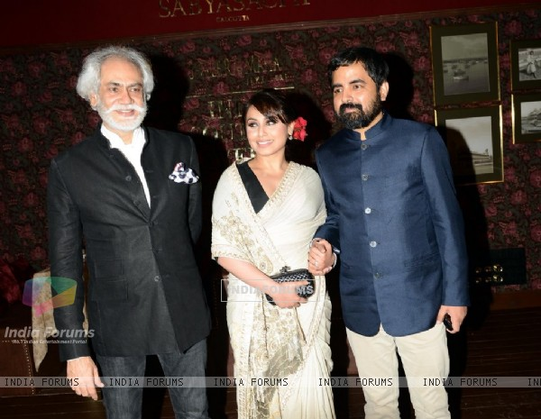 Rani Mukherjee with Sabyasachi at the Indian Couture Week