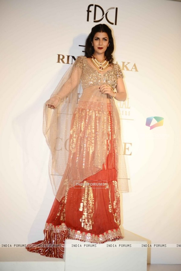 Nimrat Kaur in a Rina Dhaka creation at the Indian Couture Week - Day 2