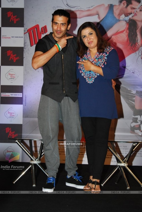 Saahil Prem with Farah Khan at the Press Meet of Mad About Dance