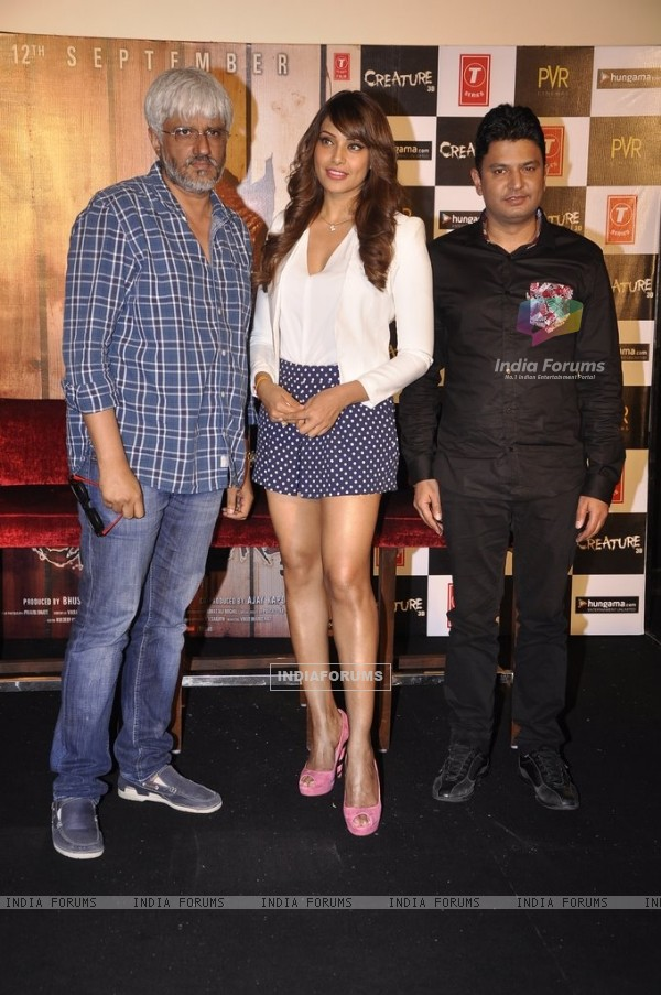 Vikram Bhatt, Bipasha Basu and Bhushan Kumar at the Trailer Launch of Creature 3D